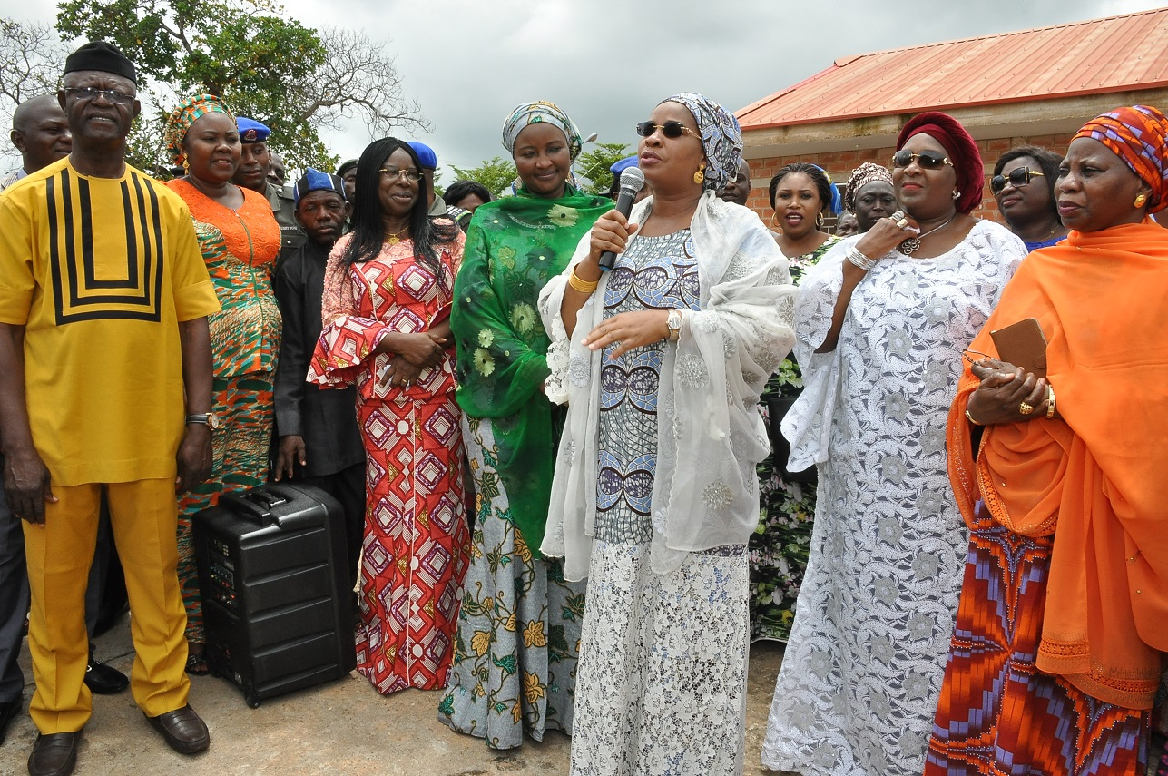 Hear what Aisha Buhari want Nigerians to do for victims of flooding in Benue state