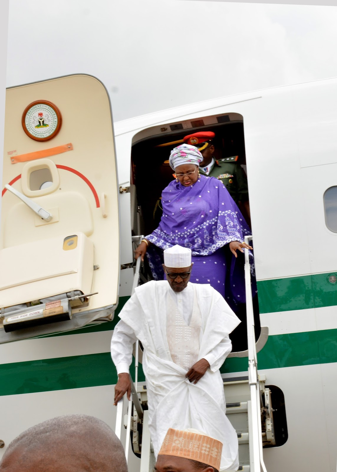 How President Buhari & Wife, Aisha stormed Abuja after holiday